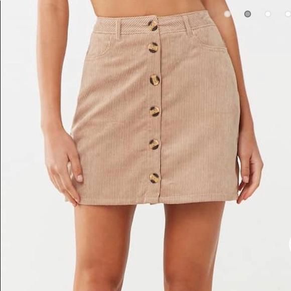 Forever 21 Dresses & Skirts - Corduroy Mini Skirt (Khaki)
